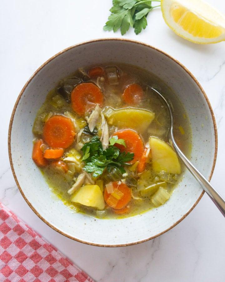 cozy chicken soup