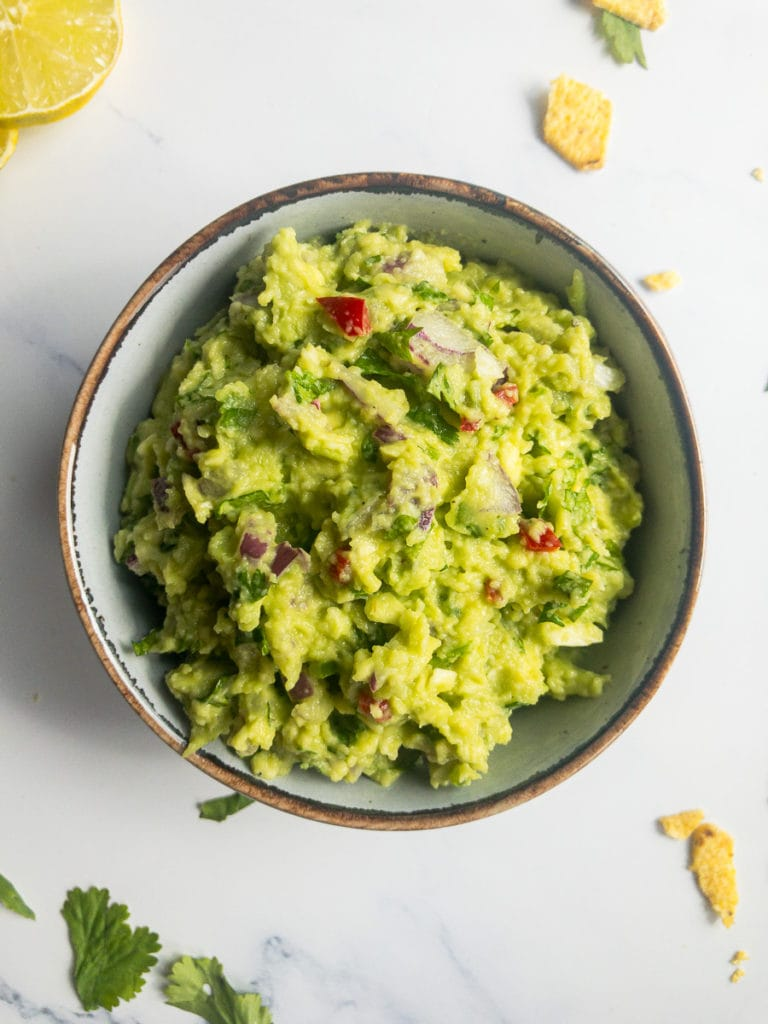 best guacamole in a small bowl