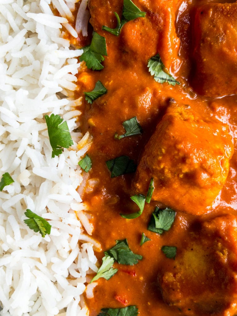 paneer tikka masala and rice