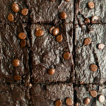 six avocado brownies