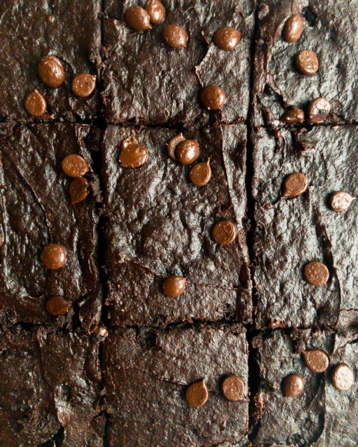 six avocado brownies