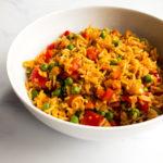 vegan fried rice in a bowl