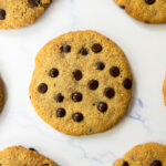 almond flour chocolate chip cookies on a table